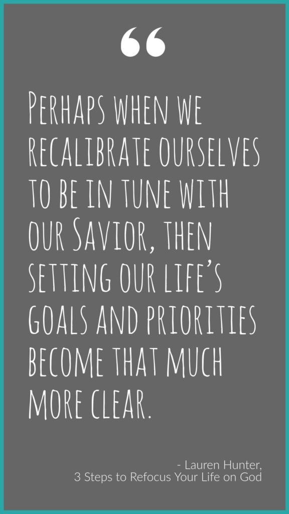 Refocus on God